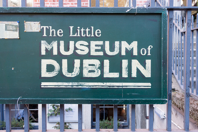 Photo of the Little Museum of Dublin sign
