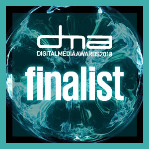 Digital Media Awards 2018 finalist badge