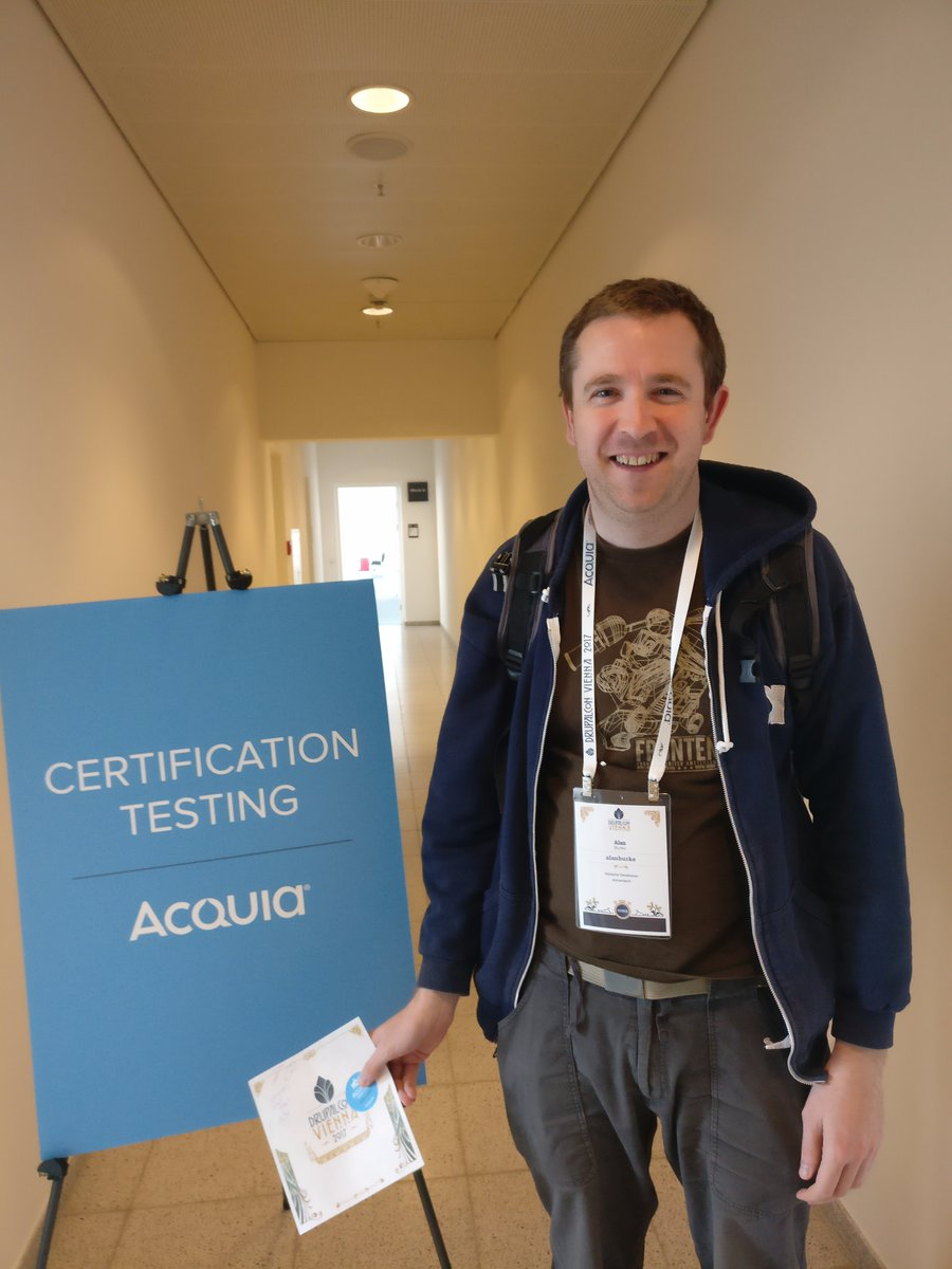 Alan with his new Acquia Developer Certification