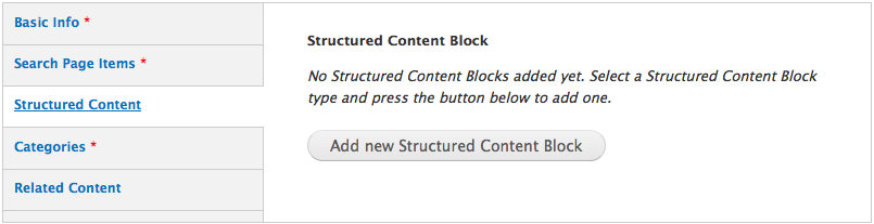 Drupal, adding structured content
