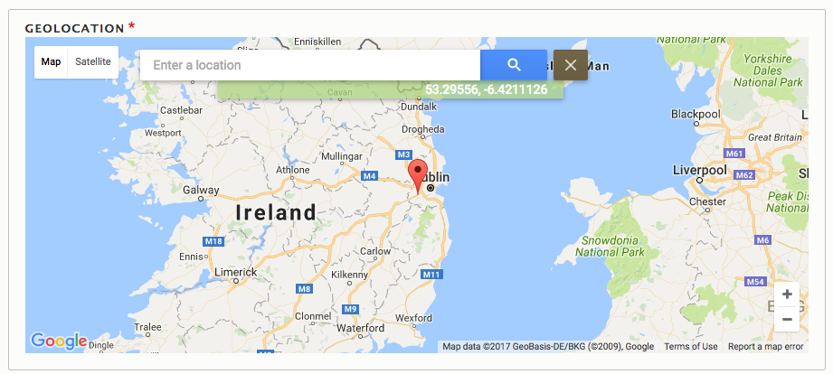 Geolocation Google Geocoder widget