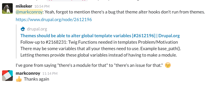 Things i learned from the drupaltwig slack volume 1 for Twig template variables