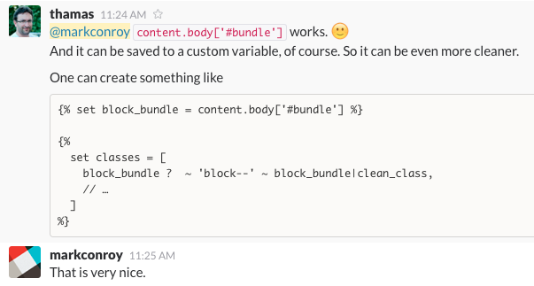add bundle class to blocks