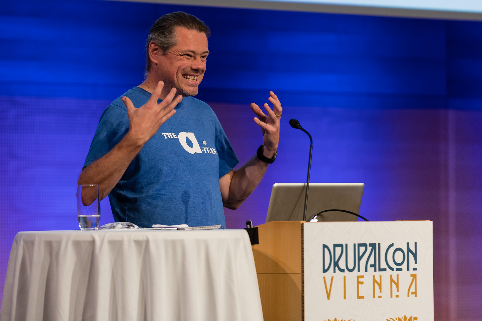 Anthony speaking at DrupalCon Vienna