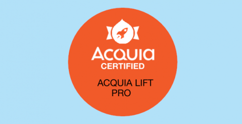 Acquia Lift Pro certification badge