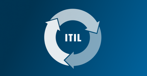ITIL letters surrounded by a circle of arrows