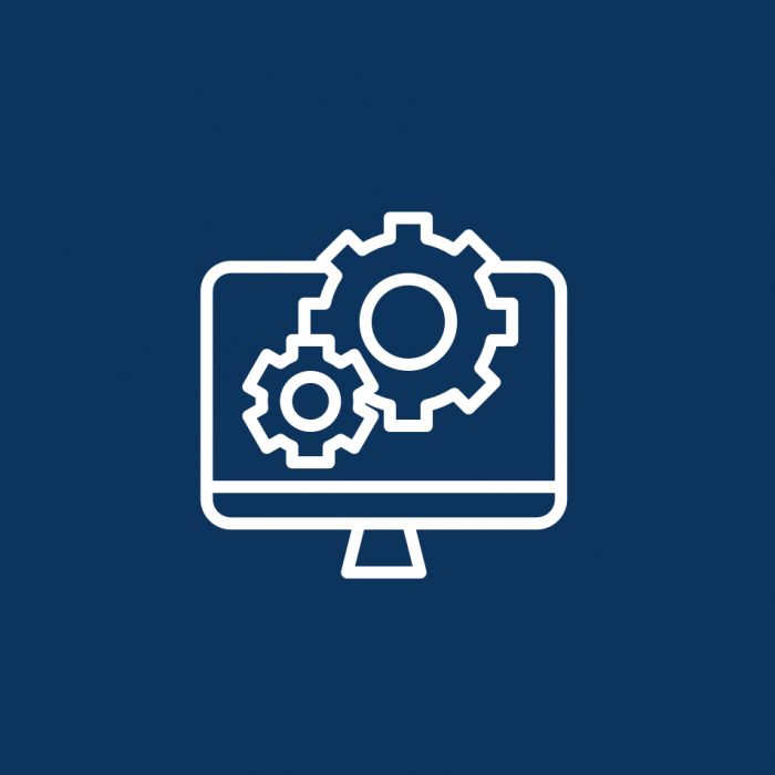 optimisation support icon | cogs moving on a desktop screen | Annertech support services