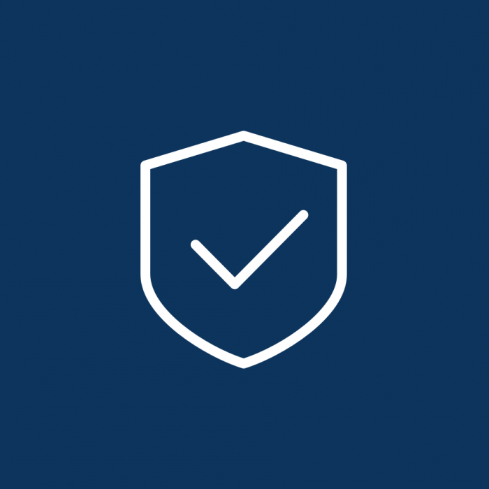 Shield with tick | Security audits | Annertech services